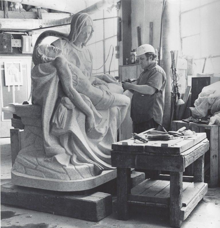 Custom Memorial Carvings - Pieta Statue - Kotecki Family Memorials