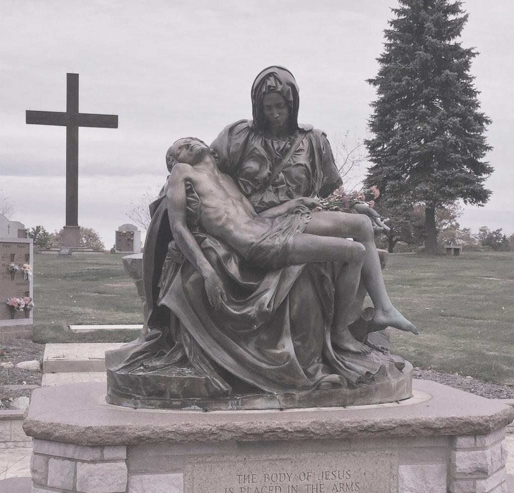 All Souls Cemetery - Chardon, Ohio - Bronze Pieta - Kotecki Family Memorials