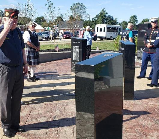Veterans Memorials - Saluting - Avon Ohio - Kotecki Family Memorials