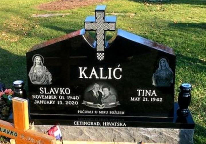 Upright Double Monument - KALIC - Kotecki Family Memorials