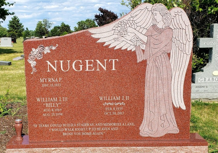 Upright Double Monument - NUGENT - Kotecki Family Memorials