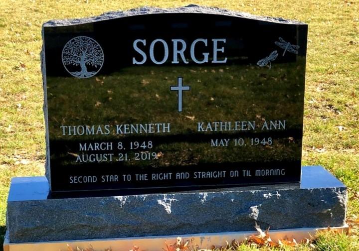 Upright Double Monument - SORGE - Kotecki Family Memorials