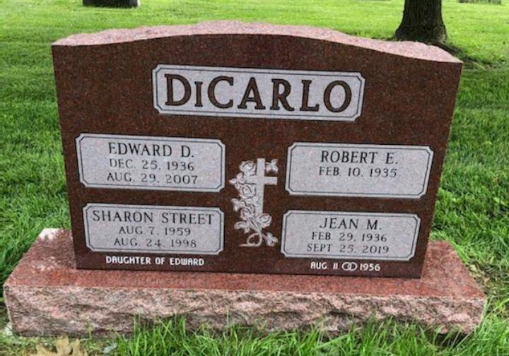 Upright Double Monument - DiCARLO - Kotecki Family Memorials