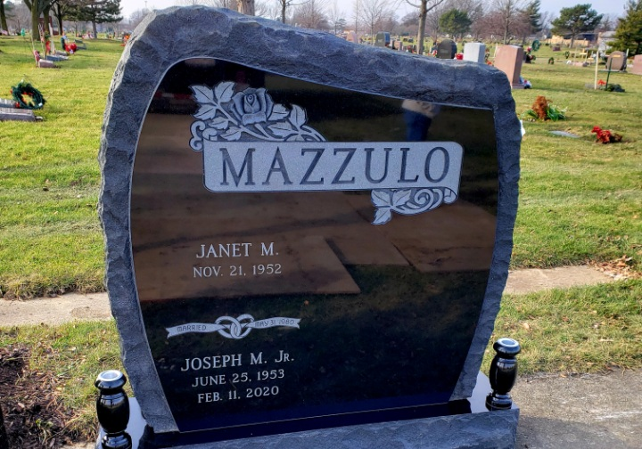 Upright Double Monument - MAZZULO - Kotecki Family Memorials