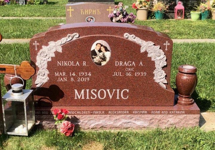 Upright Double Monument - MISOVIC - Kotecki Family Memorials