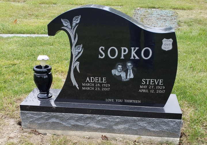 Upright Double Monument - SOPKO - Kotecki Family Memorials