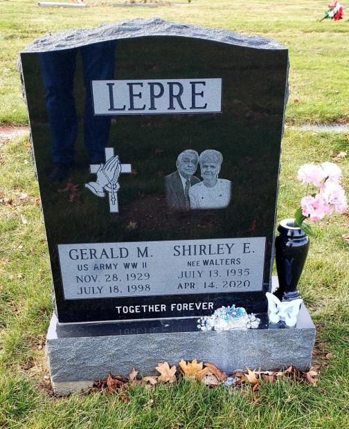 Upright Single Monument - LEPRE - Kotecki Family Memorials
