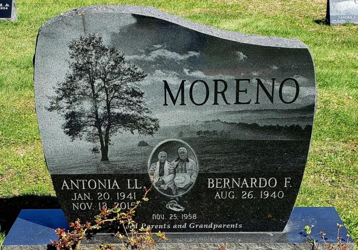 Upright Double Monument - Moreno - Kotecki Family Memorials