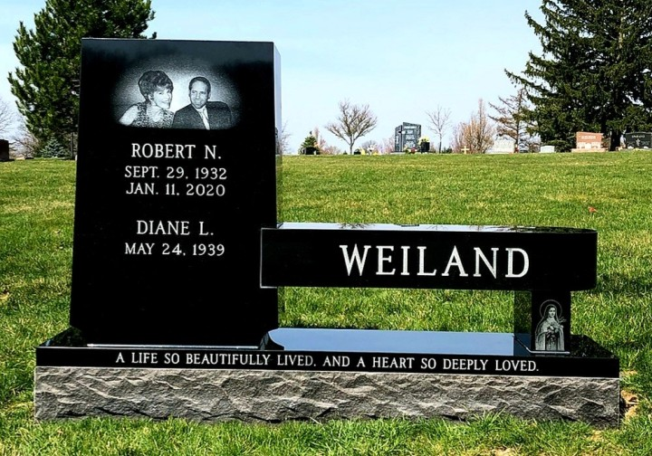 Upright Double Monument - Weiland - Kotecki Family Memorials