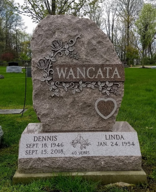 Upright Single Monument - Wancata - Kotecki Family Memorials